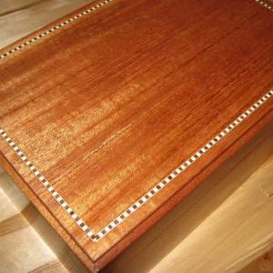 Heirloom Mahogany Keepsake Box with..